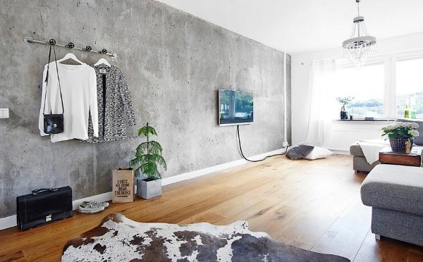 Использование бетона в интерьере и его преимущества